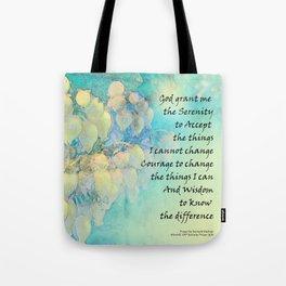 Serenity Prayer Manzanita Tote Bag