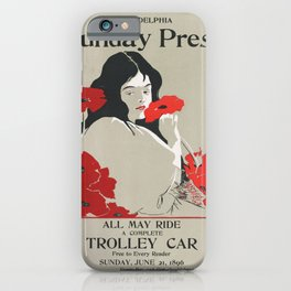 Poster Sunday Press All May Ride- George Reiter (new color rendition) iPhone Case