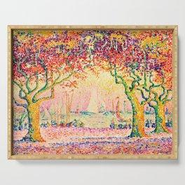 Paul Signac - Les Allées, Cannes - Colorful Vintage Fine Art Serving Tray
