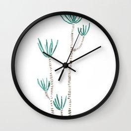 indoor palm tree watercolor Wall Clock