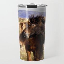 Icelandic Horses Travel Mug