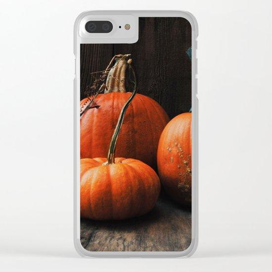 Three Pumpkins Clear iPhone Case