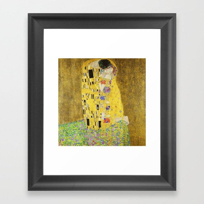 Gustav Klimt  - The Kiss -  Art Nouveau Gerahmter Kunstdruck
