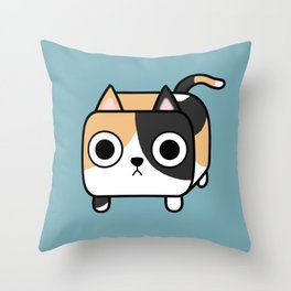 Cat Loaf - Calico Kitty Throw Pillow