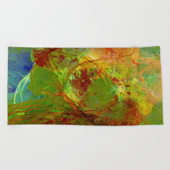 Dreamlike landscape Beach Towel