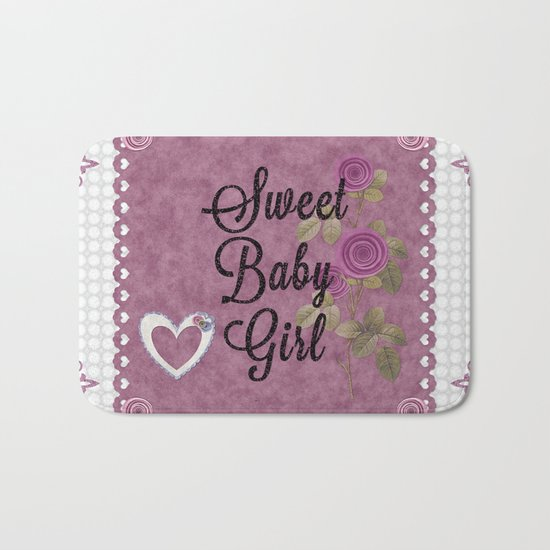 Sweet Baby Girl Bath Mat