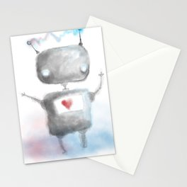 Robot Heartfelt Stationery Cards