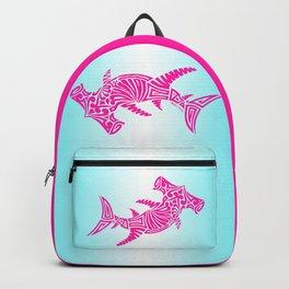 Nancy's Hot Pink Tribal Hammerhead Shark Backpack