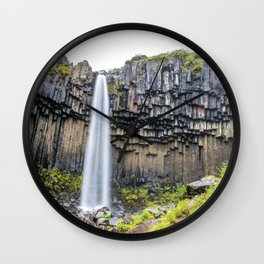 Smooth Svartifoss Wall Clock