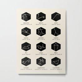 Zodiac Metal Print
