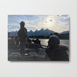 Snake River Float Trip Metal Print