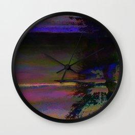 19-46-12 (Black Hole Glitch) Wall Clock