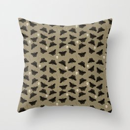 Moths in the Attic Throw Pillow