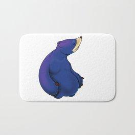 Thoughtful Blue Bear Bath Mat
