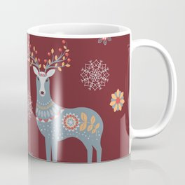 Nordic Winter Red Coffee Mug
