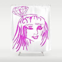 nicki Shower Curtains featuring cronart by cronart