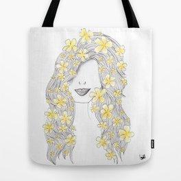 365 cabelos - yellow flowers Tote Bag