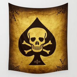 Death Card - Ace Of Spades Wall Tapestry