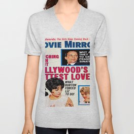 Vintage Movie Mirror Magazine 1963 Unisex V-Neck