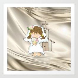 My Little Barefoot Bride Art Print
