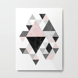 Abstract Geometri Metal Print