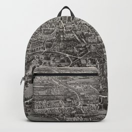 Vintage Pictorial Map of Manchester CT (1914) Backpack