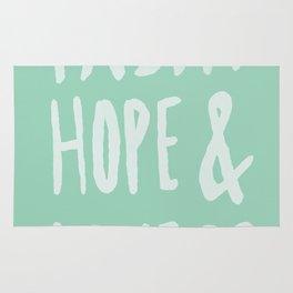 Faith Hope and Love x Mint Rug
