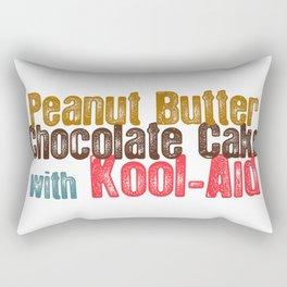 Peanut Butter Chocolate Cake #childishgambino #Gambino Rectangular Pillow