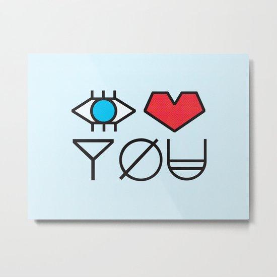 EYE HEART YOU Metal Print
