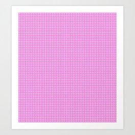 Classic Rockabilly Gingham in Bubblegum Pink Art Print