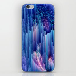 Beglitched Waterfall - Abstract Pixel Art iPhone Skin