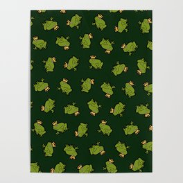 Frog Prince Pattern Poster