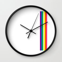 Gay Pride LGBT Subtle Rainbow Stripe Flag 2018 LoveFest Wall Clock