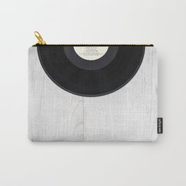 Black vintage vinyl record Carry-All Pouch