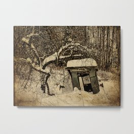 A Tree and its Shack Metal Print