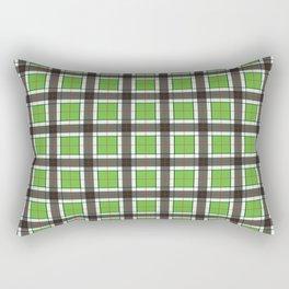 Green Plaid Pattern Rectangular Pillow