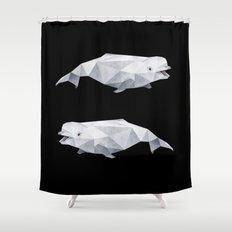 Beluga Whale. Shower Curtain