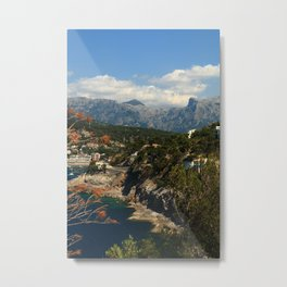 Port de Pollensa rocks Metal Print