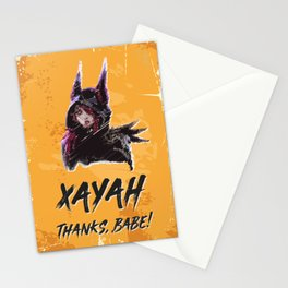 XAYAH - Thanks Babe Stationery Cards