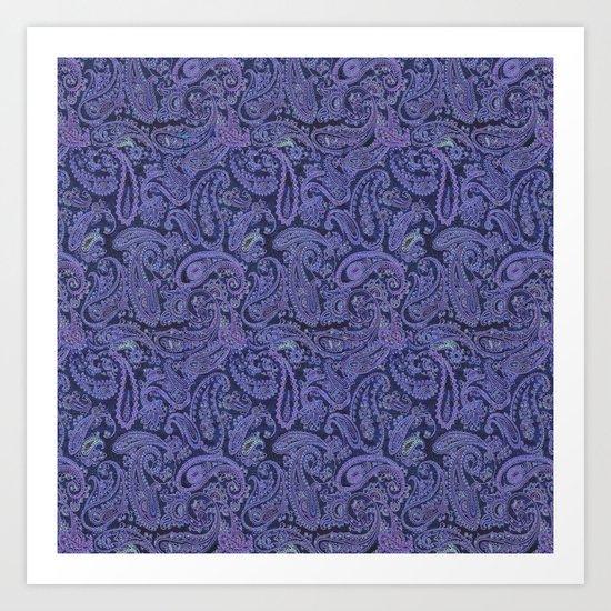 purple paisley by ariadne