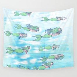 Mermaid migration Wall Tapestry
