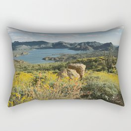 Arizona Spring Mountain Bloom Rectangular Pillow