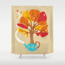 Tea Leaves Shower Curtain