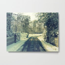 More Than Covered in Snow Metal Print