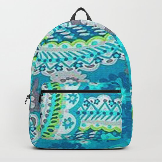 Floral Paisley Pattern 02 Backpack