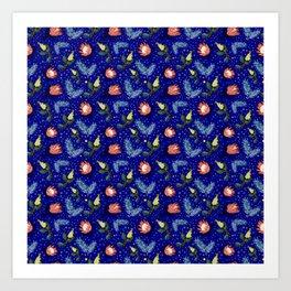 Australian Native Floral Pattern - Bright and Cute Art Print