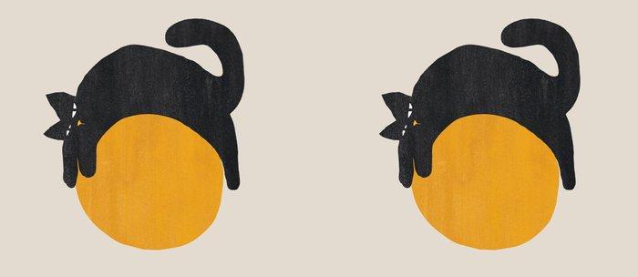 Cat with ball Kaffeebecher
