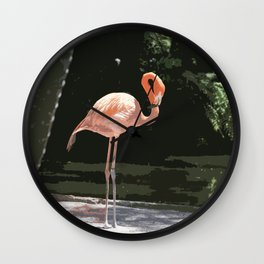 Glamourous Flamingo Wall Clock
