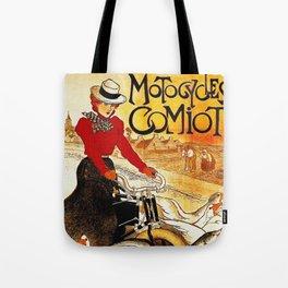 Vintage Comiot Motorcycle Ad - Paris Tote Bag