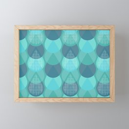 Agua in Blue Framed Mini Art Print